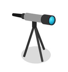 astronomy telescope isometric 3d icon vector image vector image