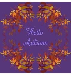 Autumn grape vine vector image vector image