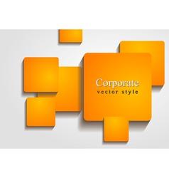 Bright orange squares design vector image