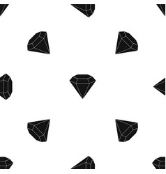brilliant gemstone pattern seamless black vector image vector image