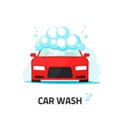 Car wash service auto washing vector