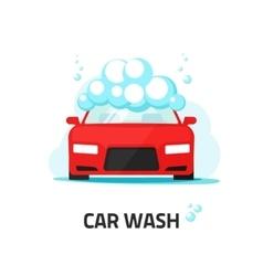 Car wash service auto washing vector image vector image