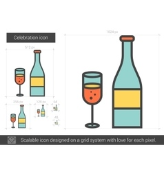 Celebration line icon vector image vector image