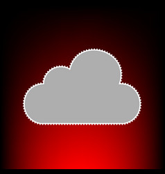 Cloud sign postage stamp or old vector