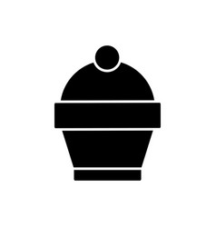 cupcake sweet dessert tasty product vector image