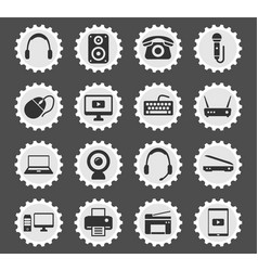 Devices simply icons vector
