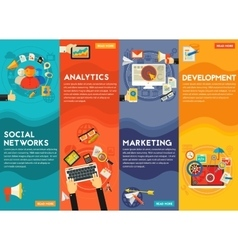 Digital marketing concept banners vector