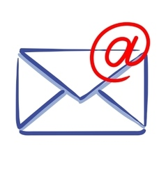 email message icon vector image vector image