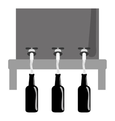 grayscale beer dispensers icon image design vector image vector image