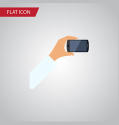 isolated keep phone flat icon smartphone vector image