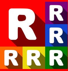 letter r sign design template element set vector image