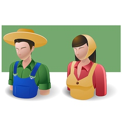 People Icons Farmer Man and Women vector image vector image