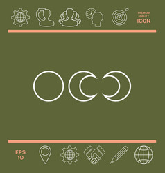 phases of the moon - line icons vector image vector image