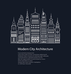 Poster modern big city vector