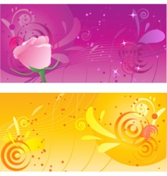 pretty backgrounds with swirl design vector image vector image