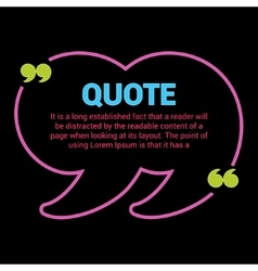 Quote box boxes with text isolated vector
