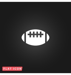 Rugby flat icon vector image vector image