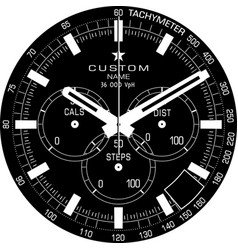 smart watch face j vector image