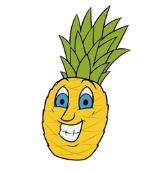 Smiling pineapple vector image
