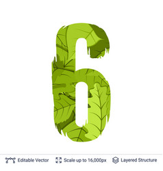 Spring green bright leaves number vector