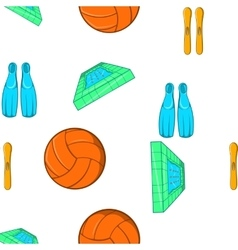 Water sport pattern cartoon style vector