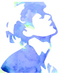 Watercolor drawing man vector