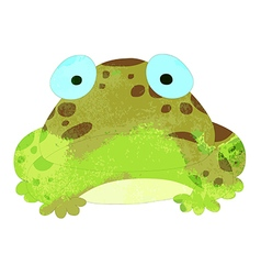 Watercolor frog isolated on white background vector