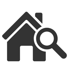 Explore house flat icon vector