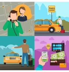 Taxi city transportation service concepts vector