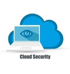 Cloud security data icon vector
