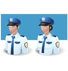 People icons policeman man and women vector