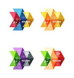 Set of color abstract arrow option infographic vector