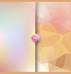 Square polygonal and blurred background vector