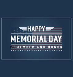 Background of memorial day theme vector