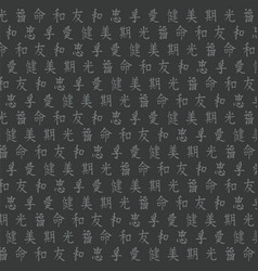 Background of japanese hieroglyphics vector
