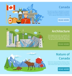 1608i124015sm004c11canada flat banners vector