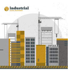 Industrial construction background vector
