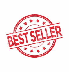 Best seller rubber stamp red color vector