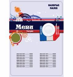 french menu vector image