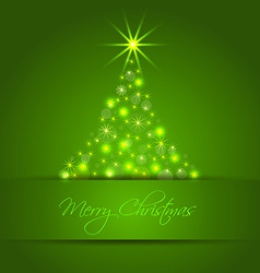 Christmas star tree background vector image