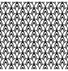 Design seamless monochrome abstract pattern vector