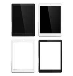 Tablet set vector