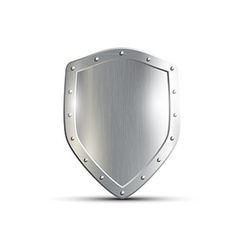 Metal shield isolated on white background vector