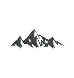 ice mountain hiking travel logo vector image