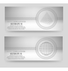 Mesh polygonal background scope of lines and dots vector