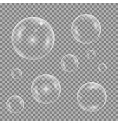 Water bubble set vector image