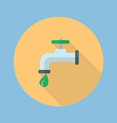Eco water tap flat icon vector