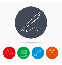 Pen icon writing tool sign vector