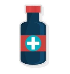 Colorful medicine container graphic vector
