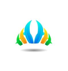 Abstract grass logo icon vector